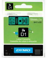Dymo label D1, polyester, verwijderbaar, 19mm, zwart op groen S0720890