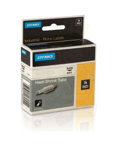 Dymo label Rhino krimpkous 24mm zwart op wit 1805443