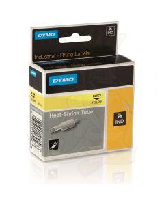 Dymo label Rhino krimpkous 24mm zwart op geel 1805444