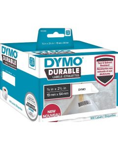 1933085 Dymo Durable Labels, 19x64mm rol á 900 stuks