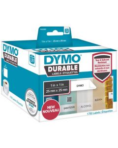 1933083 Dymo Durable Labels, 25x25mm rol á 1700 stuks