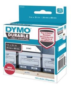 1976411 Dymo Durable Labels, 25x54mm rol á 160 stuks