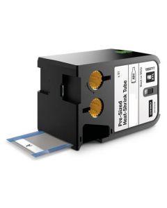 Dymo XTL label krimpkous, 24mm X 47mm zwart op wit 1868733