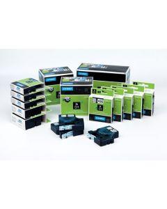 Dymo label D1, nylon, flexibel, 12mm, zwart op wit S0718040