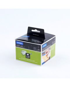 Dymo adresetiketten, breed en transparant, plastic, 36 x 89 mm, transparant 99013 / S0722410